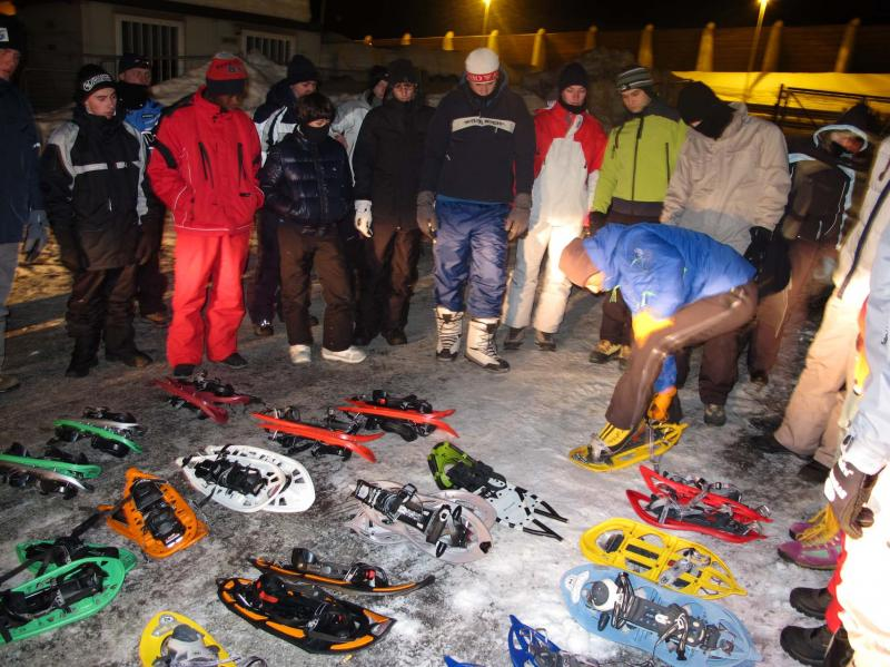 snowshoes in courmayeur